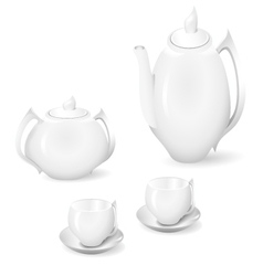 crockery for tea and coffee vector image