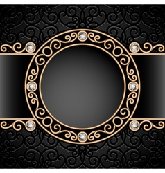Gold jewelry vignette vector image vector image
