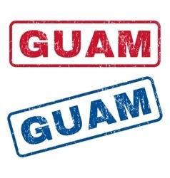 Guam rubber stamps vector