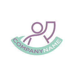 Icon human raised hand up company template vector
