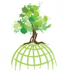 ink splat tree world vector image