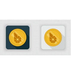 light and dark crypto currency icon bitshares vector image