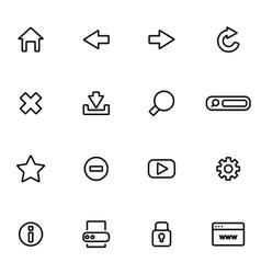 line birthday icon set vector image vector image