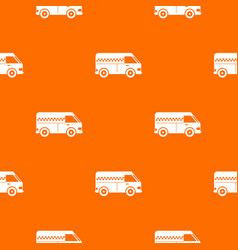 Minibus taxi pattern seamless vector