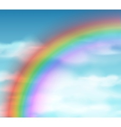 Natural background with rainbow vector