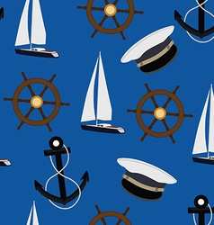 Navy pattern vector image vector image