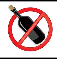 No alcohol sign on white background vector image