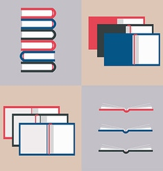 opened books in flat design style vector image