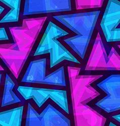 purple geometric seamless pattern with grunge vector image