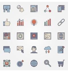 Seo optimization icons set vector