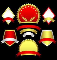 set of emblems and banners vector image