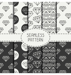 Set of monochrome hipster fashion geometric vector image