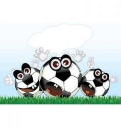 soccer cartoons vector image vector image