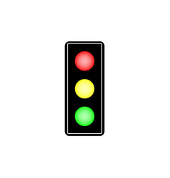 stoplight sign vector image vector image
