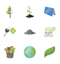 The ecology of the earth the problems of ecology vector