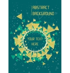 Triangles stars and circle pattern background vector image