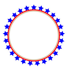 Usa flag round frame vector