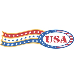 Vintage Patriotic American Logos vector image vector image