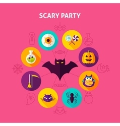 Scary party infographic concept vector