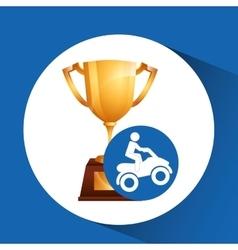extreme sport avatar quad bike design vector image
