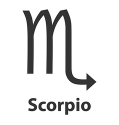 Scorpius scorpion zodiac sign icon vector