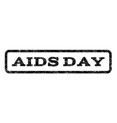 Aids day watermark stamp vector