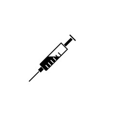Syringe solid icon injection and vaccination vector