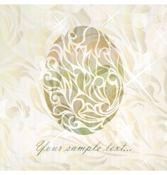 Vintage wedding egg background vector image
