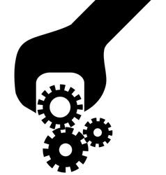 Cogwheel in screwdriver vector