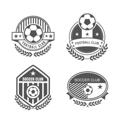 Football logo vector image
