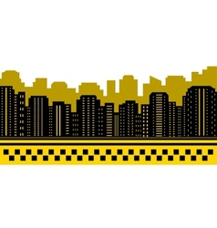 Taxi background with urban landscape vector