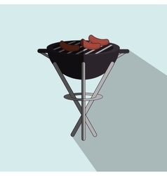 Grill sausage design vector