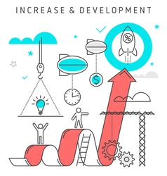 Increase development concept vector