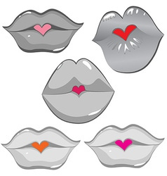Lip hearts vector