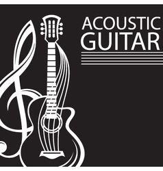 Poster with guitar vector