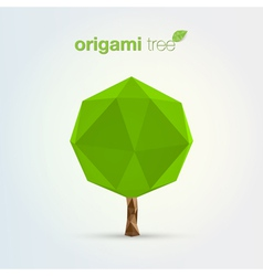 origami tree vector image