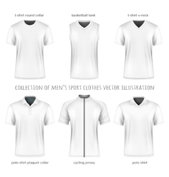 Collection of men sport clothes vector