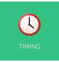 Flat design concept for time management targeting vector