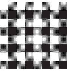 Black white check pattern seamless fabric texture vector