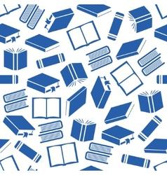 Book seamless pattern vector