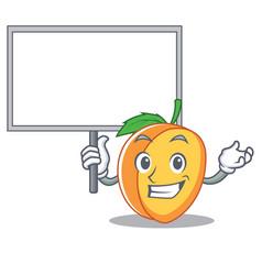 Bring board apricot character cartoon style vector