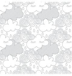 clouds in the sky scandinavian seamless vector image