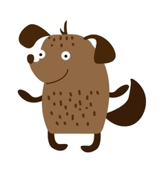 Cute cartoon puppy dog animal pet character vector image