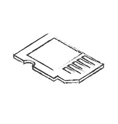 Figure micro sd technology to save documents vector