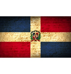 Flags Dominican Republic with dirty paper texture vector image