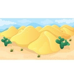 Game Background Of Desert vector image