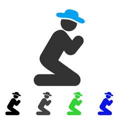 Gentleman pray flat icon vector