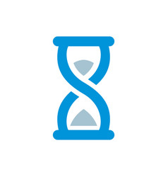 Hourglass logo flat design style vector