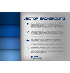 Layout blue vector