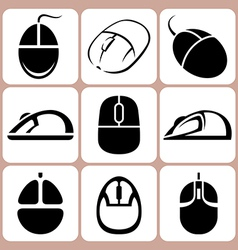 mouse icon set vector image vector image